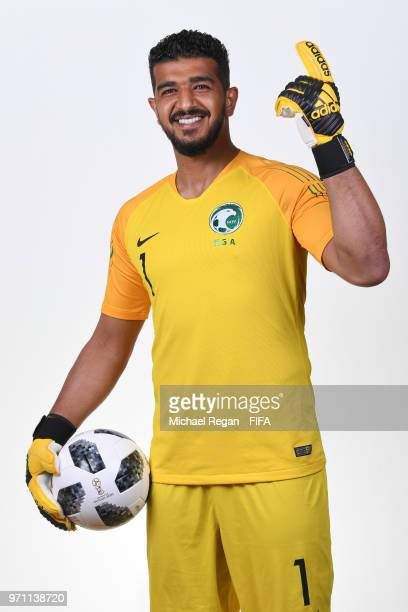 Abdullah Almuaiouf of Saudia Arabia poses during the official FIFA World Cup 2018 portrait session at on June 10 2018 in Saint Petersburg Russia