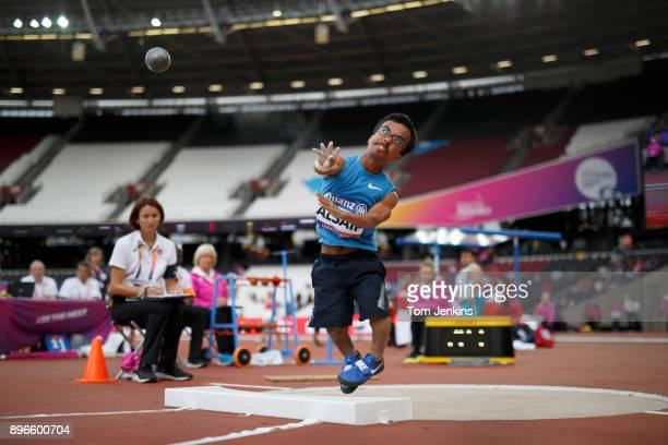 Abdullah Alsaif of Kuwait throws in the men's shot put F40 final during the World Para Athletics Championships 2017 at the Olympic Stadium on July...