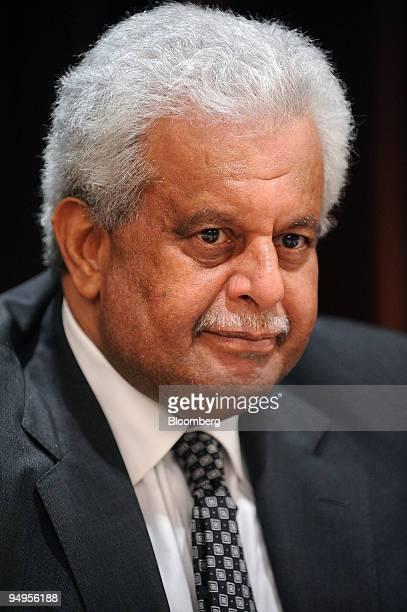 Abdullah bin Hamad alAttiyah Qatar's oil minister listens at the 10th International Oil Summit in Paris France on Thursday April 2 2009 Crude oil...
