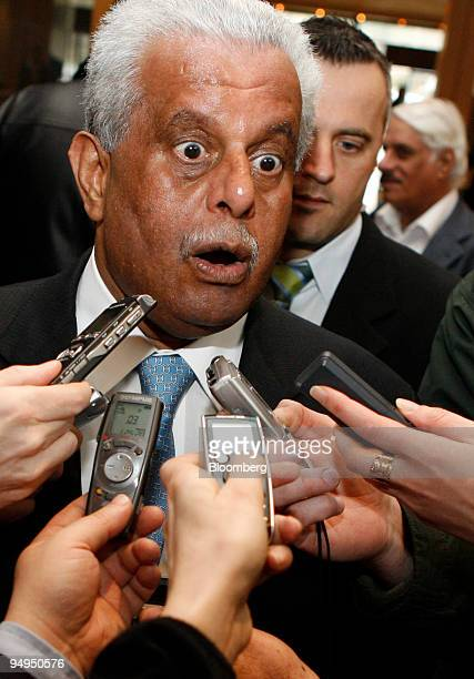 Abdullah bin Hamad alAttiyah Qatar's oil minister speaks to journalists as he arrives at his hotel prior to an Organization of Petroleum Exporting...