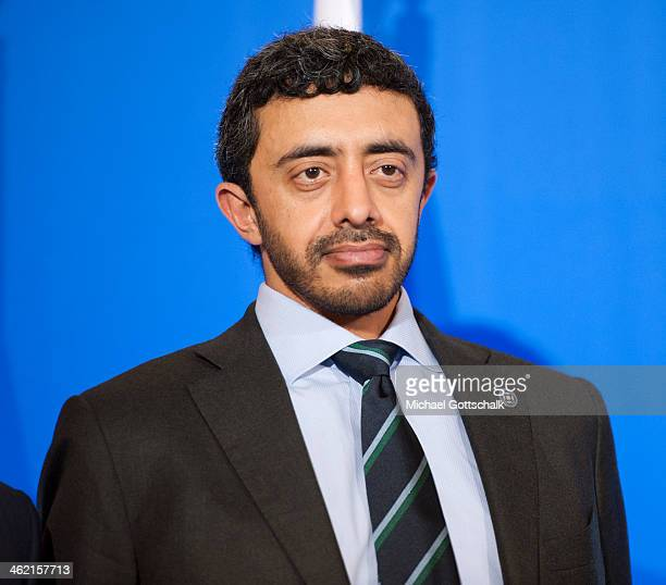 Abdullah bin Zayed Al Nahyan Foreign Minister of de United Arab Emirates at a meeting with foreign ministers from the Friends of Syria Core Group on...