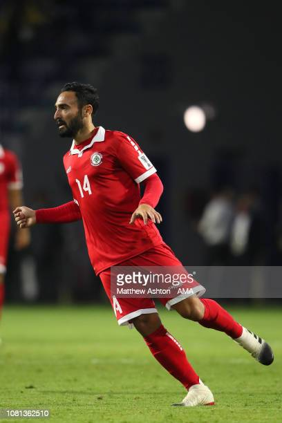 Abdullah Otayf of Lebanon in action during the AFC Asian Cup Group E match between Lebanon and Saudi Arabia at Al Maktoum Stadium on January 12 2019...
