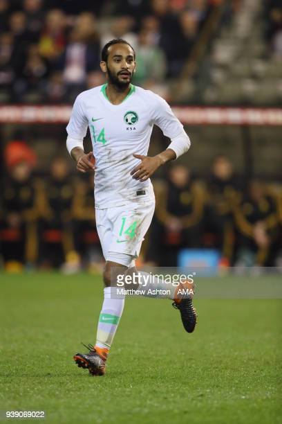 Abdullah Otayf of Saudi Arabia during an International Friendly between Belgium and Saudi Arabia on March 27 2018 in Brussel Belgium