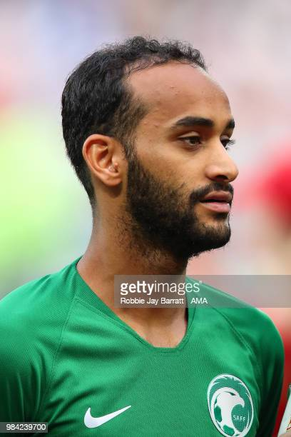 Abdullah Otayf of Saudi Arabia during the 2018 FIFA World Cup Russia group A match between Saudia Arabia and Egypt at Volgograd Arena on June 25 2018...