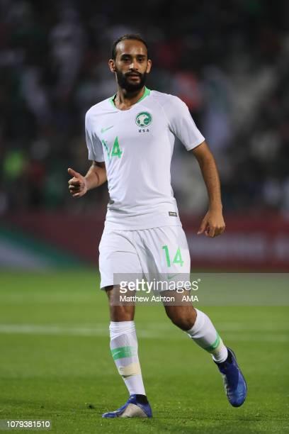Abdullah Otayf of Saudi Arabia during the AFC Asian Cup Group E match between Saudi Arabia and North Korea at Rashid Stadium on January 8 2019 in...