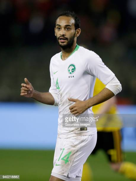 Abdullah Otayf of Saudi Arabia during the International Friendly match between Belgium v Saudi Arabia at the Koning Boudewijnstadion on March 27 2018...
