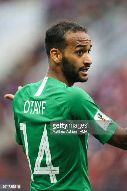 Abdullah Otayf of Saudi Arabia in action during the 2018 FIFA World Cup Russia group A match between Russia and Saudi Arabia at Luzhniki Stadium on...