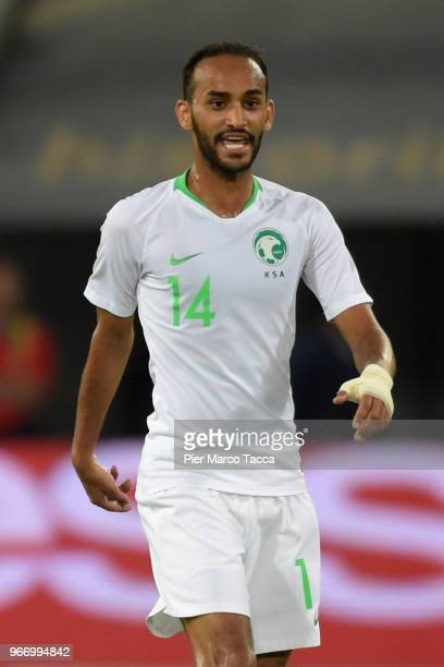 Abdullah Otayf of Saudi Arabia looks during the International Friendly match between Saudi Arabia and Italy on May 28 2018 in St Gallen Switzerland