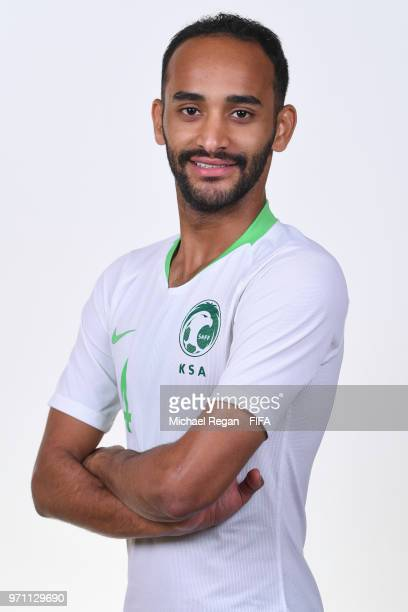 Abdullah Otayf of Saudia Arabia poses during the official FIFA World Cup 2018 portrait session at on June 10 2018 in Saint Petersburg Russia