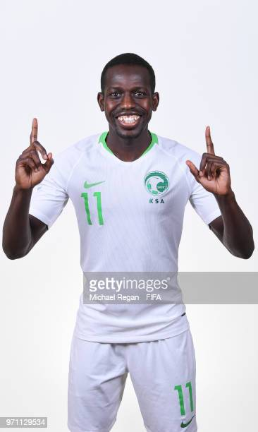Abdulmalek Al Khaibri of Saudia Arabia poses during the official FIFA World Cup 2018 portrait session at on June 10 2018 in Saint Petersburg Russia