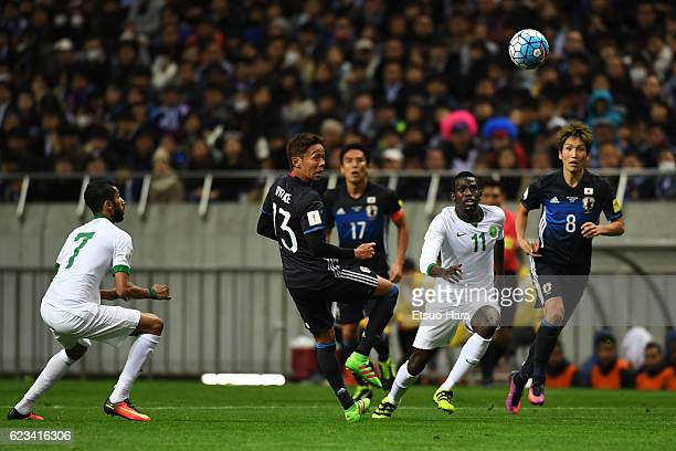 Abdulmalek Al Khaibri#11 of Saudi Arabia in action during the 2018 FIFA World Cup Qualifier match between Japan and Saudi Arabia at Saitama Stadium...