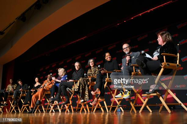AbdulMateen II Tim Blake Nelson Hong Chau Louis Gossett Jr Jean Smart Jeremy Irons Nicole Kassell Regina King Damon Lindelof and moderator speak...