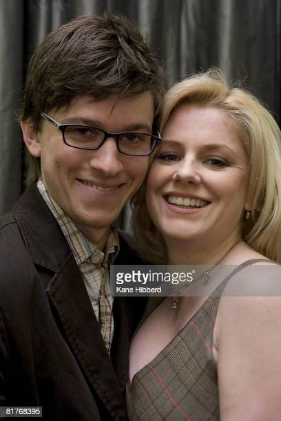 Abe Forsythe and Helen Dallimore attend the nominations for the 2008 Helpmann Awards at Her Majesty's Theatre on June 30 2008 in Melbourne Australia