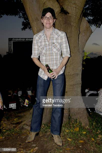 Abe Forsythe attends the launch of the Nissan Moonlight Cinema in Centennial Park on December 6 2007 in Sydney Australia