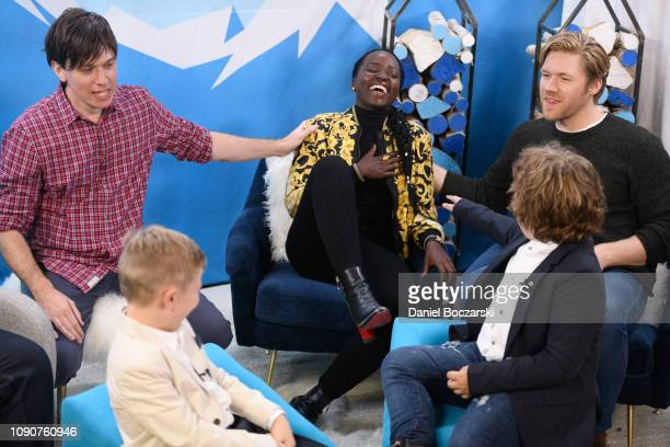Abe Forsythe Charlie Whitley Lupita Nyong'o Diesel La Torraca and Alexander England attend The Vulture Spot during Sundance Film Festival on January...