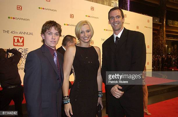 Abe Forsythe with Johanna Griggs and guest arriving on the red carpet for the 45th Annual TV Week Logie Awards 2003 held at the Crown Casino...