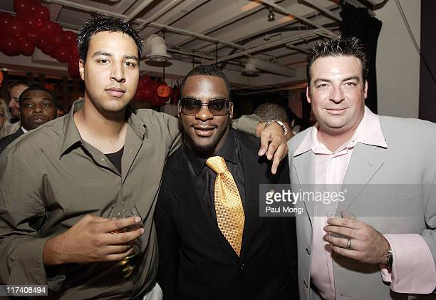 Abe Hamrah Clinton Portis and Brian Dean during Washington Redskins Runningback Clinton Portis' 25th Birthday Party at Silver Spring Gallery in...