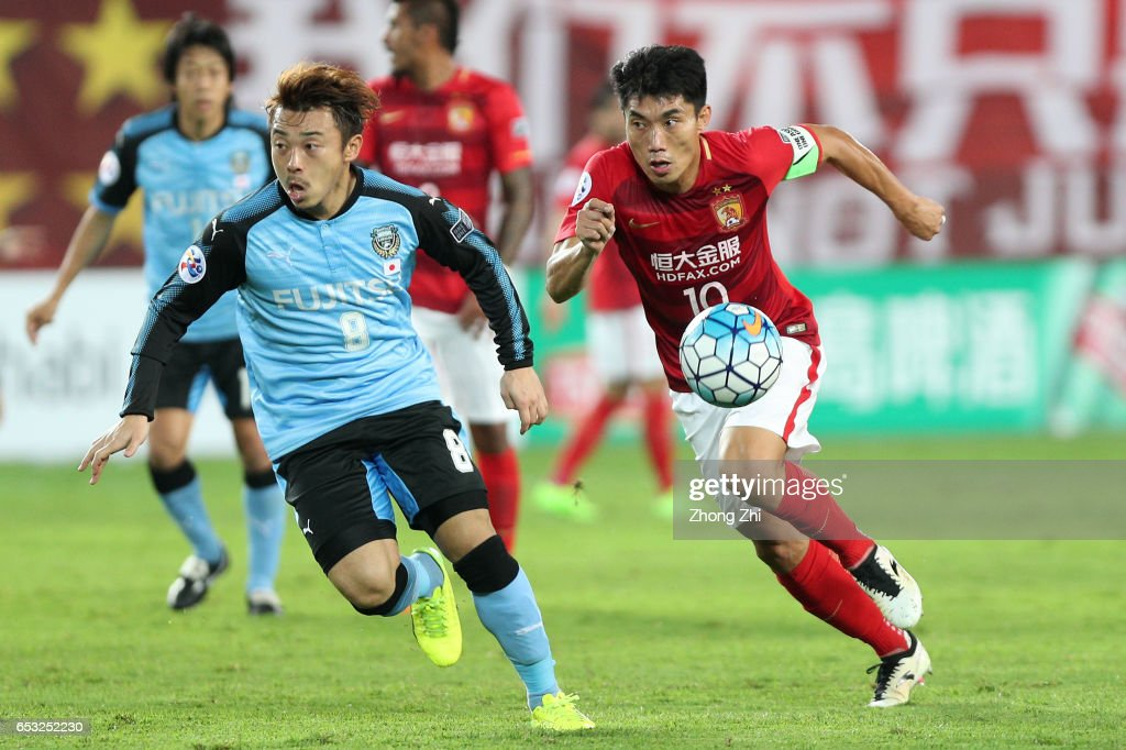 AFC Champions League - Guangzhou Evergrande v Kawasaki Frontale : ニュース写真