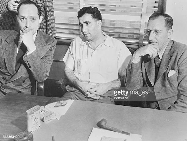 Abe Kid Twist Reles and Al Tannebaum New York gangster figures in the Murder Incorporated expose went before the County Grand jury to tell what they...