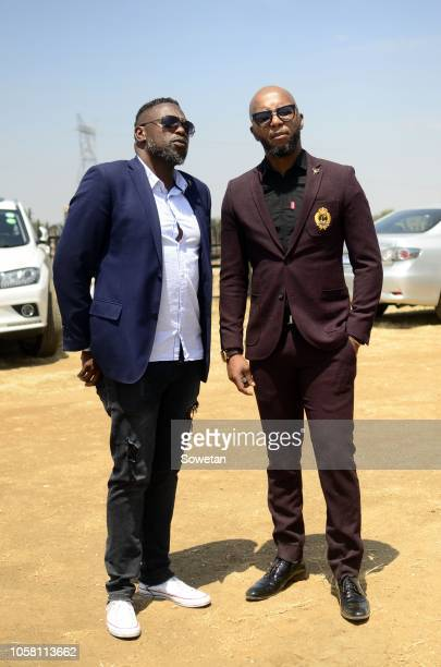 Abe Molamu and Stone Seate during the funeral service of the late musician Jabulani 'HHP' Tsambo at Mmabatho Convention Centre on November 03, 2018...