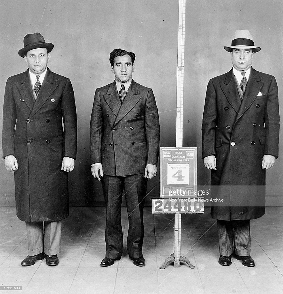 Abe (Kid Twist) Reles (center) in a police mug shot.