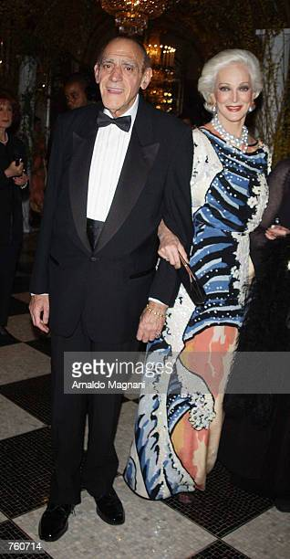 Abe Vigoda and Carmen Dell''Orefice attend the Fifth Anniversary of 'Ball of the Year' which benefits the Boy's Town of Italy April 12 2002 in New...