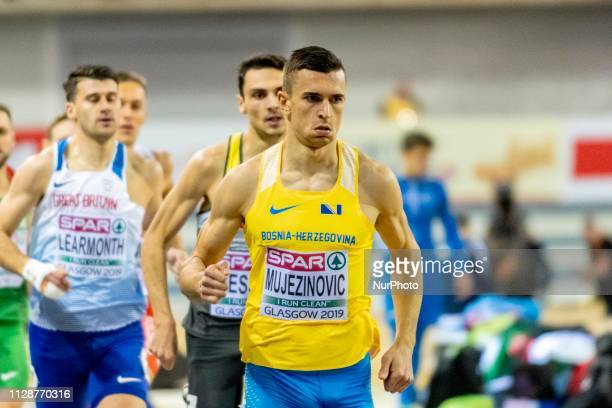 Abedin BIH competing in the 800m Men event during day ONE of the European Athletics Indoor Championships 2019 at Emirates Arena in Glasgow Scotland...