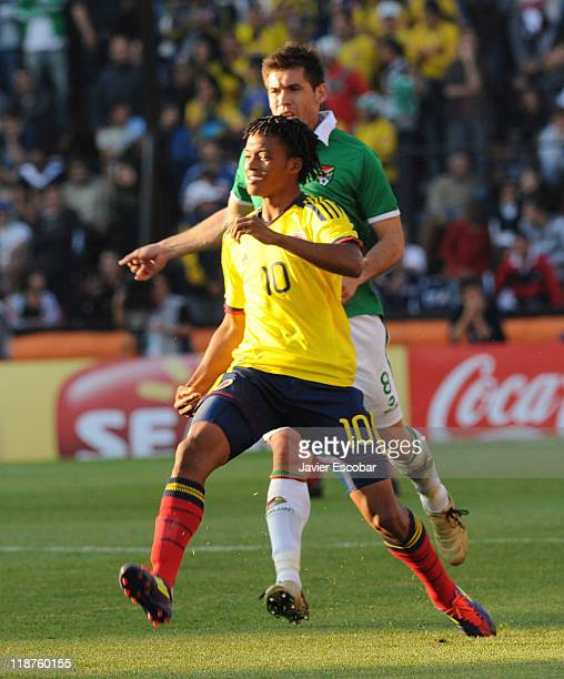 Abel Aguilar from Colombia in action during a match between Colombia and Bolivia for the third round of Group A of Copa America 2011 at Brigadier...