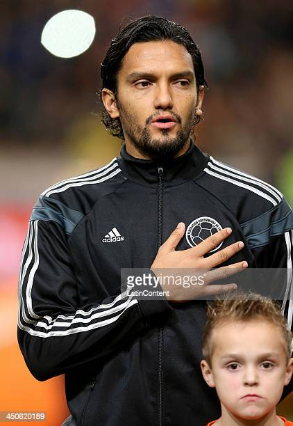 Abel Aguilar of Colombia during a FIFA Friendly match between Colombia and Netherlands at Amsterdam Arena on November 19 2013 in Amsterdam Netherlands