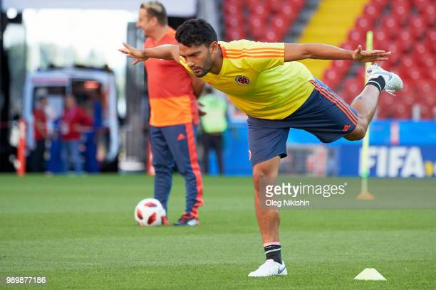 Abel Aguilar of Colombia during a training session at the FIFA World Cup at Spartak Stadium on July 2 2018 in Moscow Russia