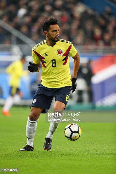 Abel Aguilar of Colombia during the International Friendly match between France and Colombia at Stade de France on March 23 2018 in Paris France