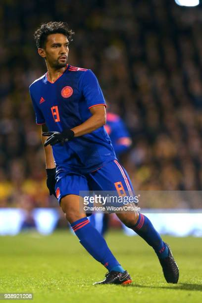 Abel Aguilar of Colombia during the International Friendly match between Australia and Colombia at Craven Cottage on March 27 2018 in London England
