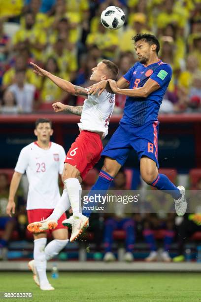 Abel Aguilar of Colombia in action during the 2018 FIFA World Cup Russia Group H match between Poland and Colombia at the Kazan Arena in Kazan Russia...