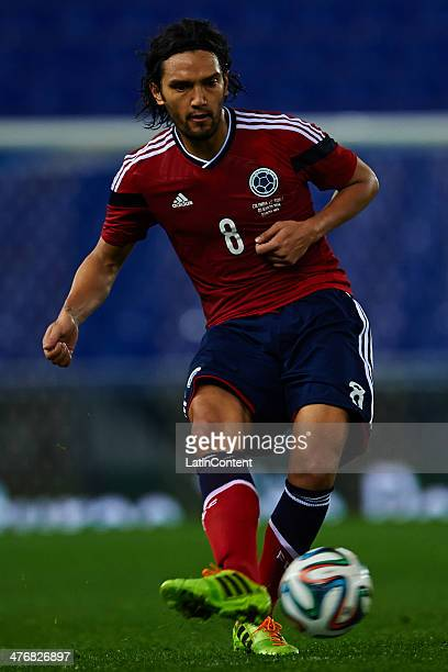 Abel Aguilar of Colombia in action during the International friendly match between Colombia and Tunisia at Cornella el Prat Stadium on March 5 2014...