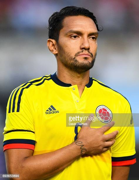 Abel Aguilar of Colombia looks on during a friendly match between Spain and Colombia at La Nueva Condomina stadium on June 7 2017 in Murcia Spain