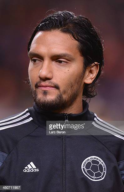 Abel Aguilar of Colombia looks on during the International Friendly match between Netherlands and Colombia at Amsterdam ArenA on November 19 2013 in...