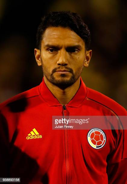 Abel Aguilar of Colombia looks on during the International Friendly match between Australia and Colombia at Craven Cottage on March 27 2018 in London...