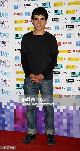Abel Ayala attends 'Spanish Night Cinema' party at Cecilio Rodriguez Gardens in Retiro Park on June 20 2011 in Madrid Spain