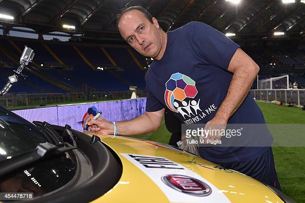 Abel Balbo attends the Interreligious Match For Peace at Olimpico Stadium on September 1 2014 in Rome Italy