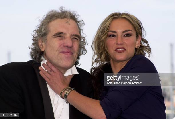 Abel Ferrara and Drea de Matteo during Cannes 2001 R Xmas Photo Call With Abel Ferrara at Palais des Festivals in Cannes France
