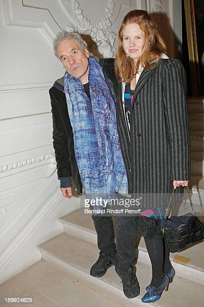 Abel Ferrara and Shanyn Leigh arrive to attend the JeanPaul Gaultier Spring/Summer 2013 HauteCouture show as part of Paris Fashion Week on January 23...