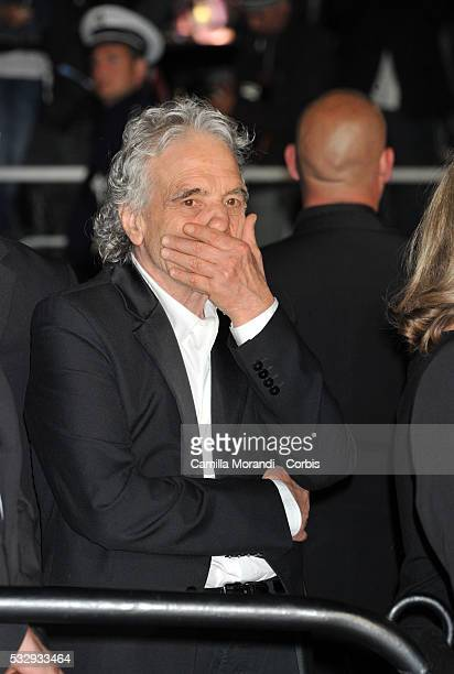 """Abel Ferrara attend the """"Gimme Danger"""" red carpet at the annual 69th Cannes Film Festival at Palais des Festivals on May 19, 2016 in Cannes, France."""