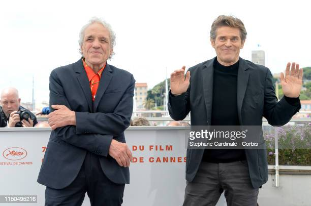 Abel Ferrara Willem Dafoe attend the photocall for Tommaso during the 72nd annual Cannes Film Festival on May 20 2019 in Cannes France