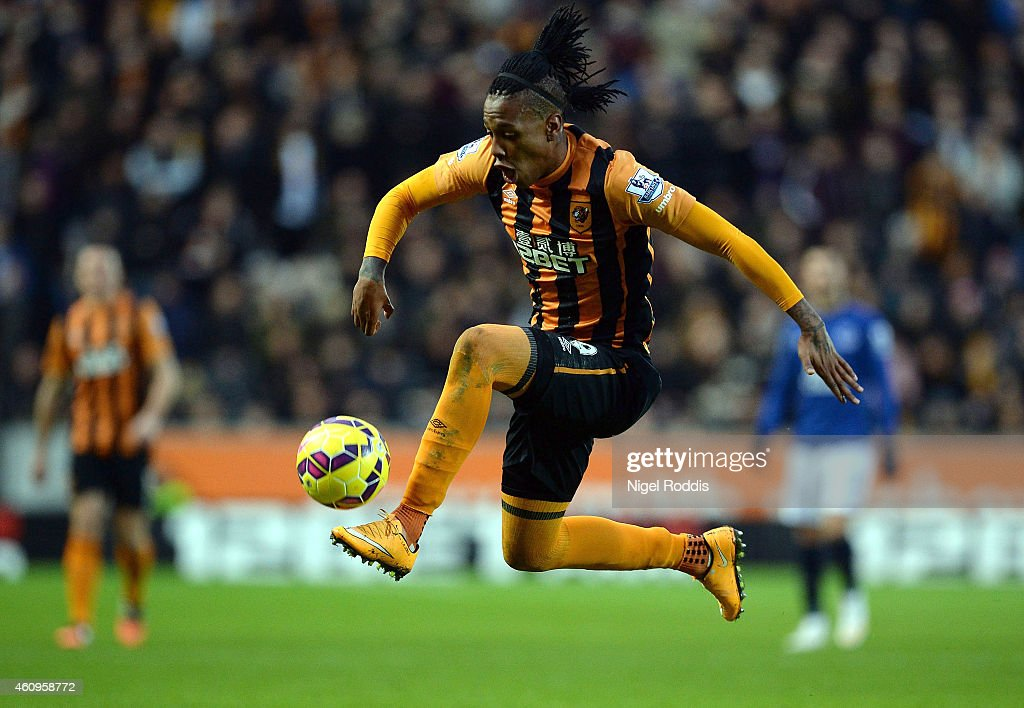 Abel Hernandez of Hull City during the Barclays Premier League match between Hull City and Everton at KC Stadium on January 1, 2015 in Hull, England.