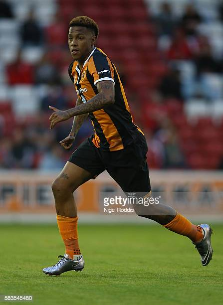 Abel Hernandez of Hull City during the PreSeason Friendly match between Barnsley and Hull City at Oakwell Stadium on July 26 2016 in Barnsley England