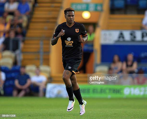 Abel Hernandez of Hull City during the preseason friendly match between Mansfield Town and Hull City at the One Call Stadium on July 19 2016 in...