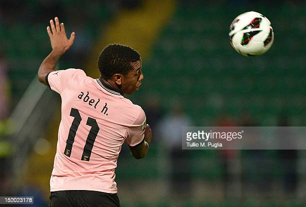 Abel Hernandez of Palermo in action during the Serie A match between US Citta di Palermo and Cagliari Calcio at Stadio Renzo Barbera on September 15,...
