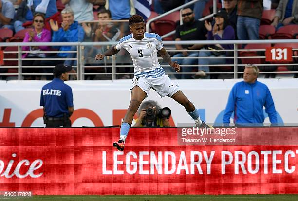 Abel Hernandez of Uruguay celebrates after scoring a goal against Jamaica during the 2016 Copa America Centenario Group match play between Uruguay...