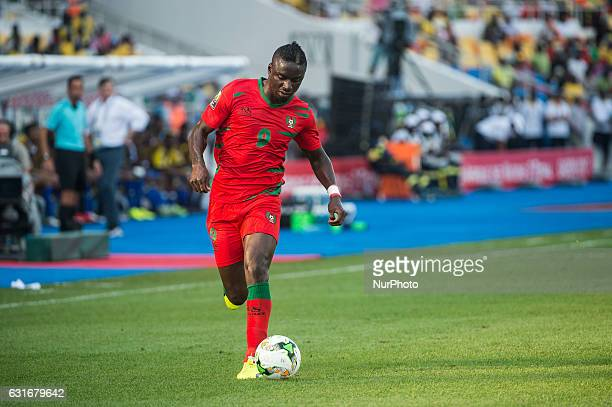 Abel Issa Camara attacking during the first half at African Cup of Nations 2017 between Gabon and GuineaBissau at Stade de lAmitié Sino stadium...
