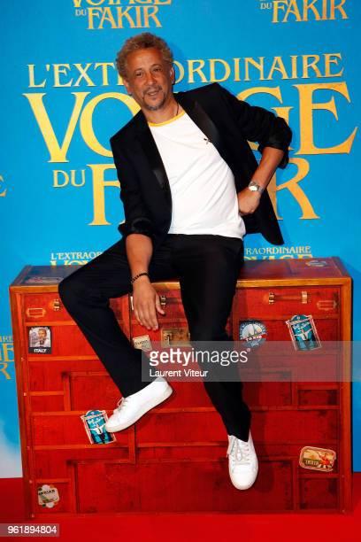 Abel Jafri attends 'L'Extraordinaire Voyage du Fakir' Paris Premiere at Publicis Champs Elysees on May 23 2018 in Paris France